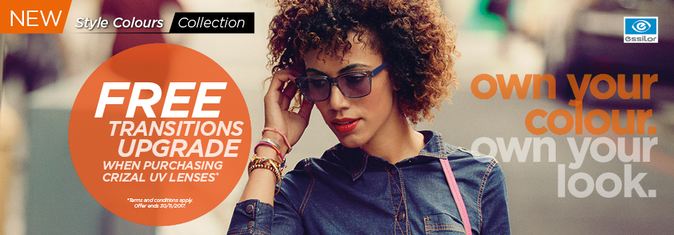 Chapman opticians Free Transitions offer