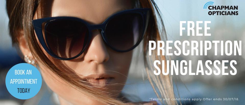 Chapman opticians Free Prescription sunglasses
