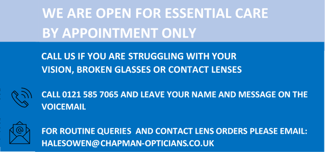 Halesowen opticians eye test