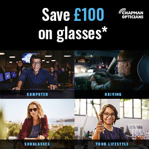 Save £100 on glasses